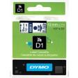 Dymo 45011 D1 Tape 12mm x 7m blauw op transparant