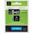 Dymo 45811 D1 Tape 19mm x 7m wit op zwart