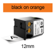 DYMO 1868766 XTL universele vinyl tape 12mm zwart op oranje