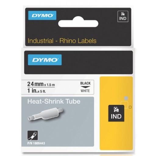 Dymo RHINO 1805443 krimpkous zwart op wit 24mm