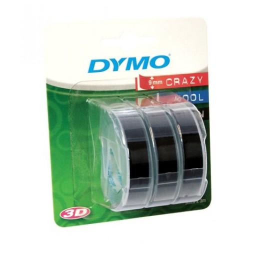 Dymo 3D reliëftapes, set van 3 rollen zwarte tape