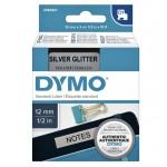 Dymo 2084401 D1 tape zwart op zilver glitter 12mmx3m