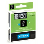 Dymo 43610 D1 Tape 6mm x 7m zwart op transparant