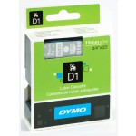 Dymo 45810 D1 Tape 19mm x 7m wit op transparant