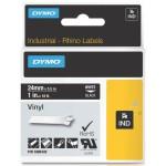 Dymo RHINO 1805432 vinyl wit op zwart 24mm