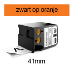DYMO 1868769 XTL universele vinyl tape 41mm zwart op oranje