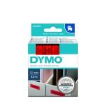 Dymo 45017 D1 Tape 12mm x 7m zwart op rood