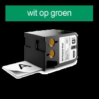 DYMO 1868783 XTL universele vinyl tape 24mm wit op groen