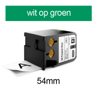DYMO 1868785 XTL universele vinyl tape 54mm wit op groen