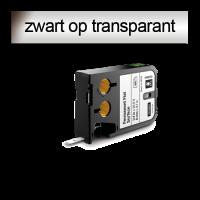 DYMO 1868740 XTL Permanent vlakke ondergrond 12mm zwart op transparant