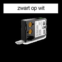 DYMO 1868666 XTL Label 12x25mm zwart op wit