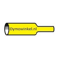 Dymo RHINO 18058 krimpkous zwart op geel 19mm