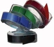 Dymo reliëf tape is beschikbaar in vier kleuren.